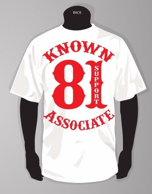 HELLS ANGELS SUPPORT 81 KNOWN ASSOCIATE TSHIRT #AAA #GraphicTee | 81
