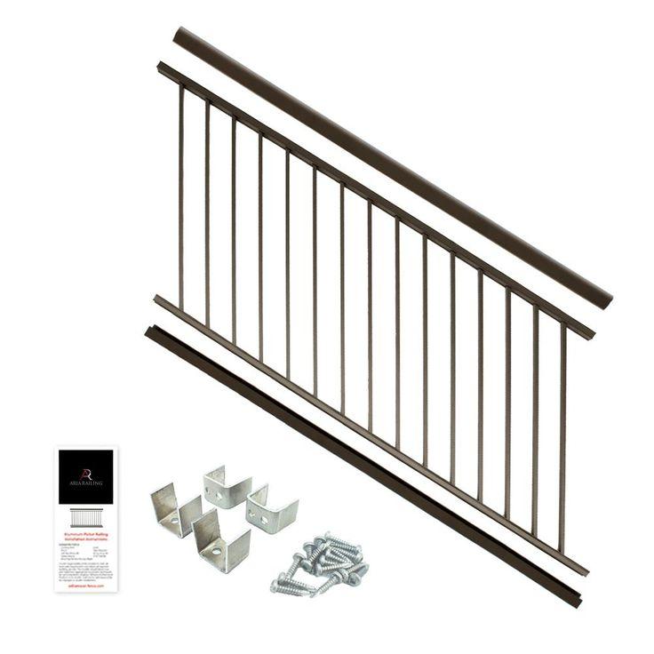 Best Aria Railing 36 In X 6 Ft Bronze Powder Coated Aluminum Preassembled Deck Stair Railing Deck 400 x 300