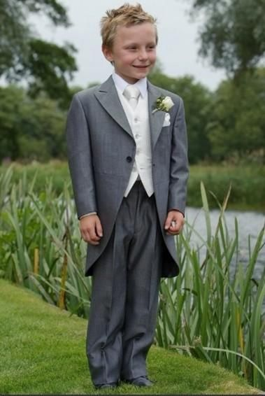 Boys Occasion Wear Handsome Grey Boy'S Tailcoat Boys Formal Occasion Attire Classic Design Kid Dress Birthday Party Prom SuitJacket+Pants+Tie+Vest09 Formal Suit For Boys From Good Happy, $52.36| Dhgate.Com