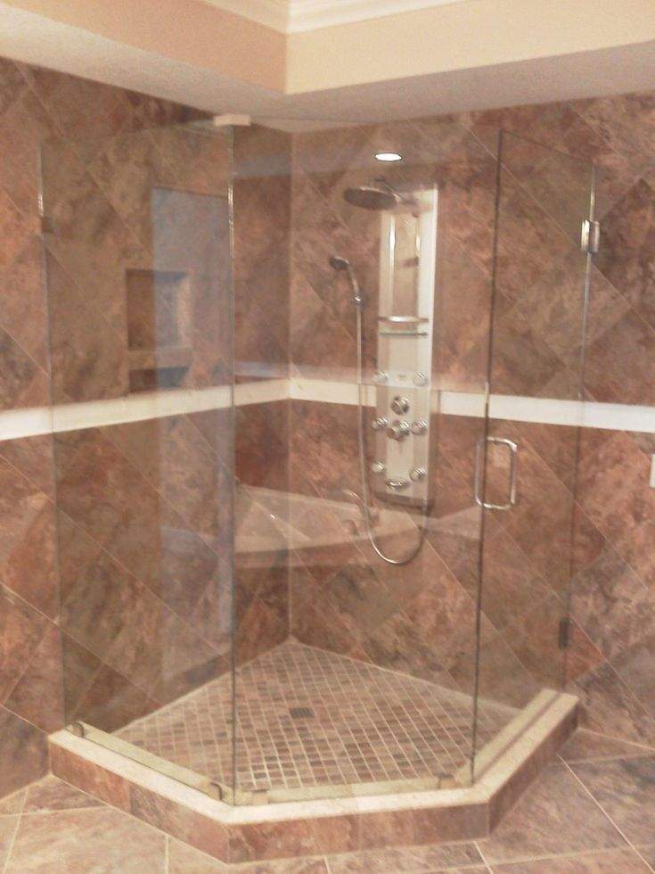The 25 best ideas about frameless shower enclosures on for Cool shower door ideas
