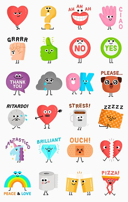 LINE stickers by Mauro Gatti