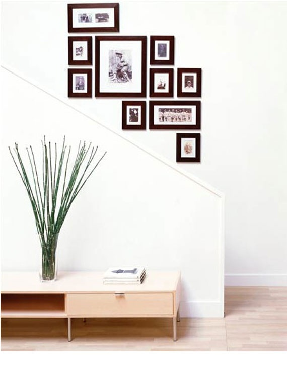 stairway wall decor ideas | Instant Decorating: The Picture Perfect Wall | Design Hole Online