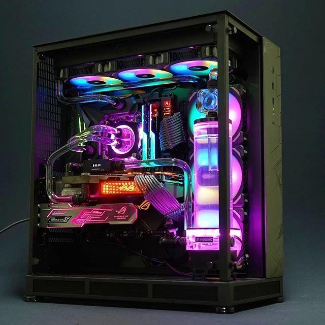 Rainbow Lighting #pc #gaming #pcgaming #custom #computer #2018 #mods