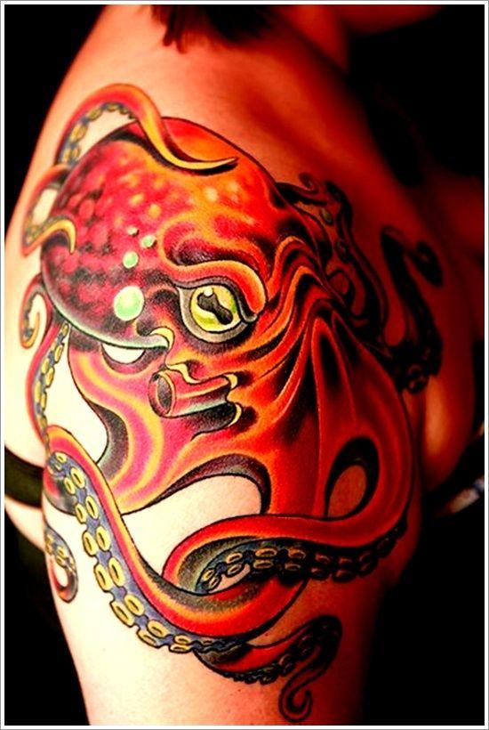 Octopus tattoo back