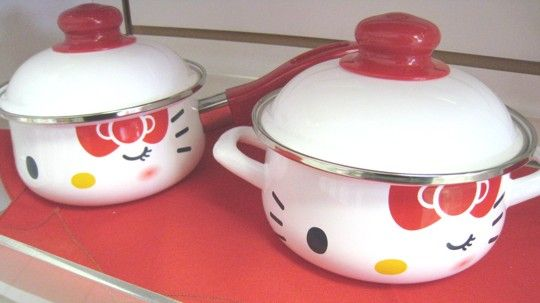 hello kitty stew pot and sauce pan