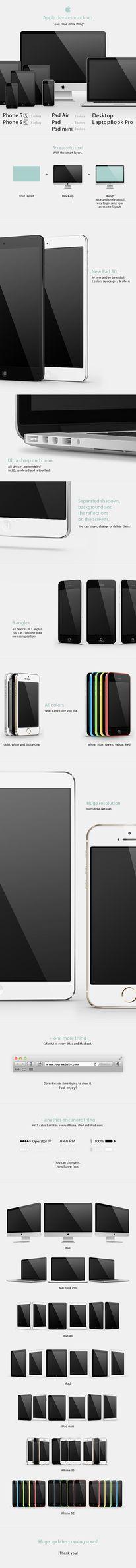 Apple devices mock-up on Behance https://www.behance.net/gallery/11612007/Apple-devices-mock-up — Designspiration