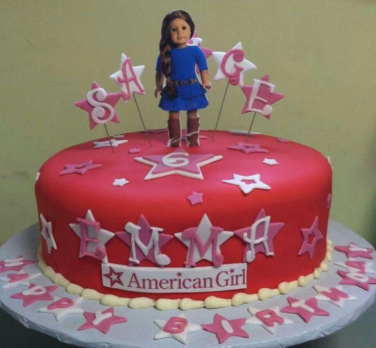 American Girl Doll Cake Topper