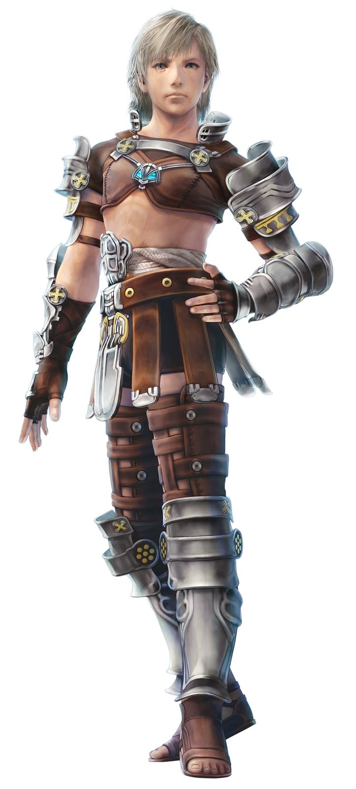 You were wrong if you thought I was joking about the sports bras. Bonus points for doing the STRONG FEMALE CHARACTER pose. (Reks, Final Fantasy XII) EDIT: To clarify YES THIS IS A MALE CHARACTER.