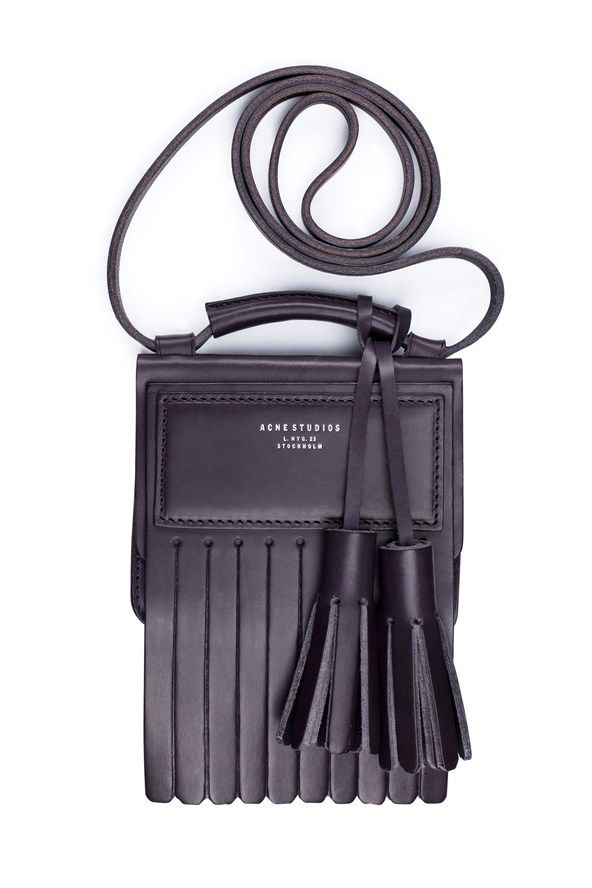 Acne  We love the cartoonish proportions of the oversized tassels on this fringed miniature bag. £310, www.acnestudios.com