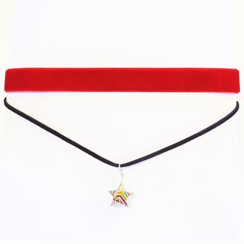 Origami Star Thick Choker Necklace