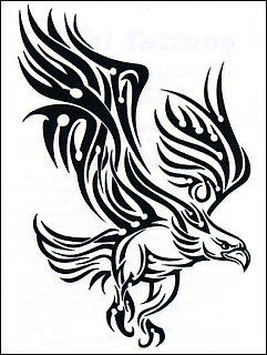 Amazon.com: Tribal Eagle Temporaray Tattoo: Toys & Games