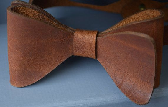 Leather Bow-Tie // Neck-Tie // Dicky-Bow // Mens neck wear Just got this for my partner as a valentines day gift.