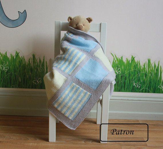 Couverture bébé patron / Patron tricot / patron tricot pour