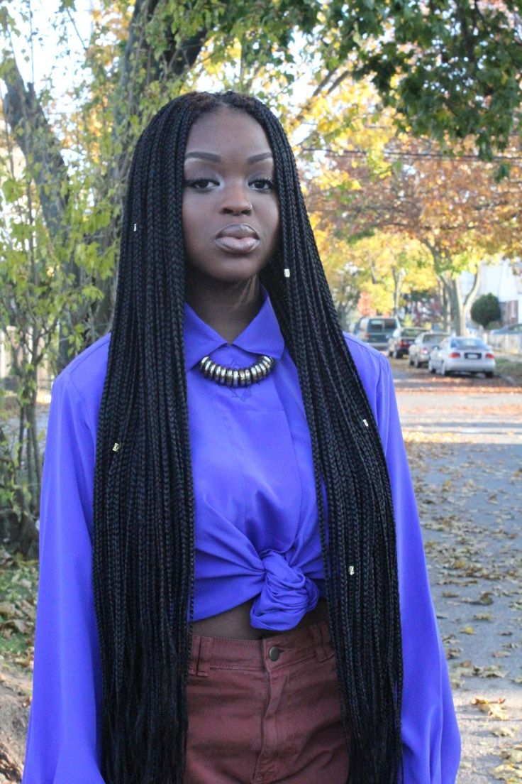 Long #braids #naturalhairstyle Loved By NenoNatural!