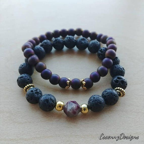 Check out this item in my Etsy shop https://www.etsy.com/ca/listing/562527750/purplegold-hematite-with-diffuser-lava
