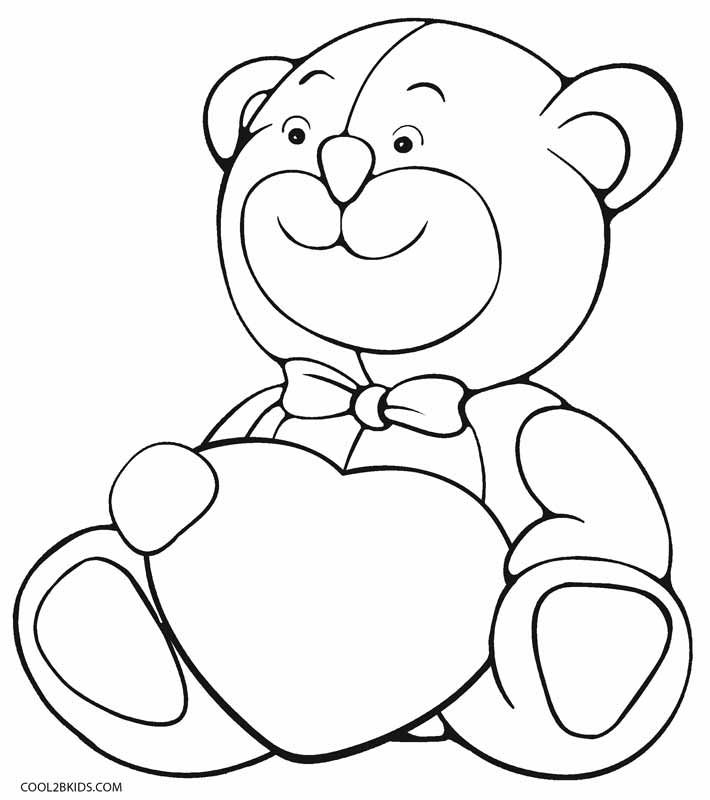 Printable Teddy Bear Coloring Pages For Kids Cool2bkids In 2020