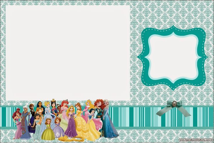 96 Disney Princesses Online Birthday Invitations Downloads