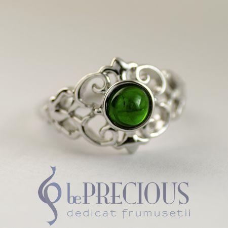 Inel argint cu Chrome Diopside - www.beprecious.ro
