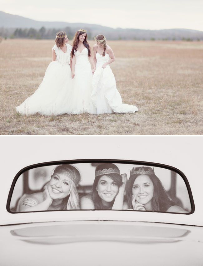 cute idea .. sisters all in their wedding dresses .. totally not the point of this shoot but it sparked an idea!