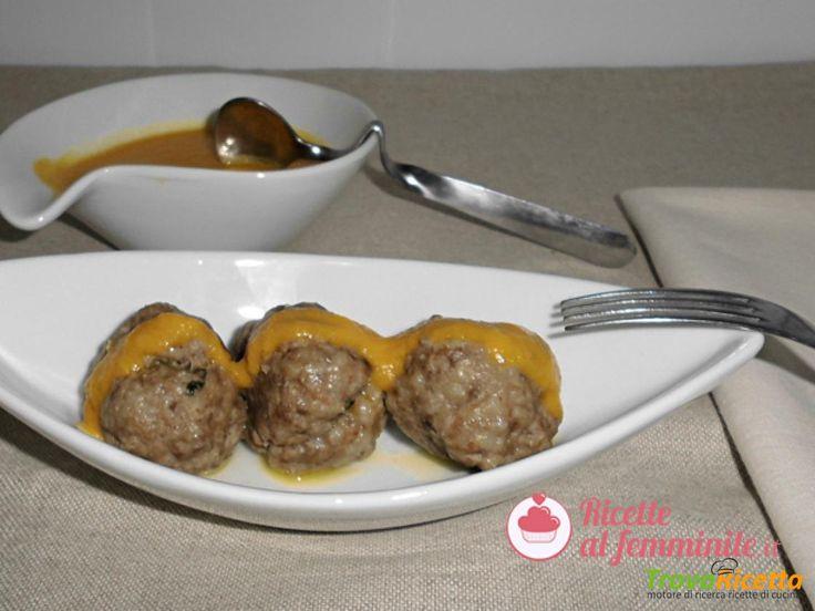 Polpette di carne a varoma con salsa alla zucca  #ricette #food #recipes