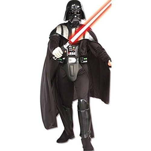 Star Wars Halloween Costume Darth Vader Deluxe Adult Black Jumpsuit Dress Up NEW #RubiesCostume #Dress