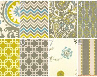 Modern Valance Premier Prints Saffron Yellow by Modernality2