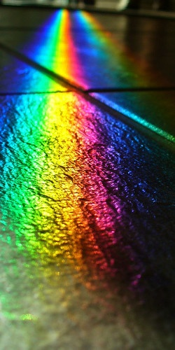 Black Slate, Twin Rainbows by Velvet Android on Flickr