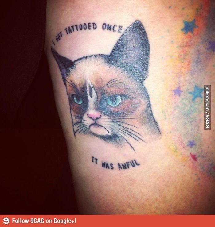 Grumpy cat tattoo @crystalcruz