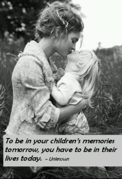 so true - put down the phone/touchpad/tv remote/game console and pick up your kid! Don't let grandma raise them either.