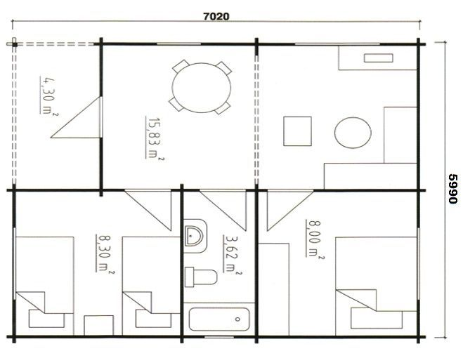 Proiect casa lemn mica