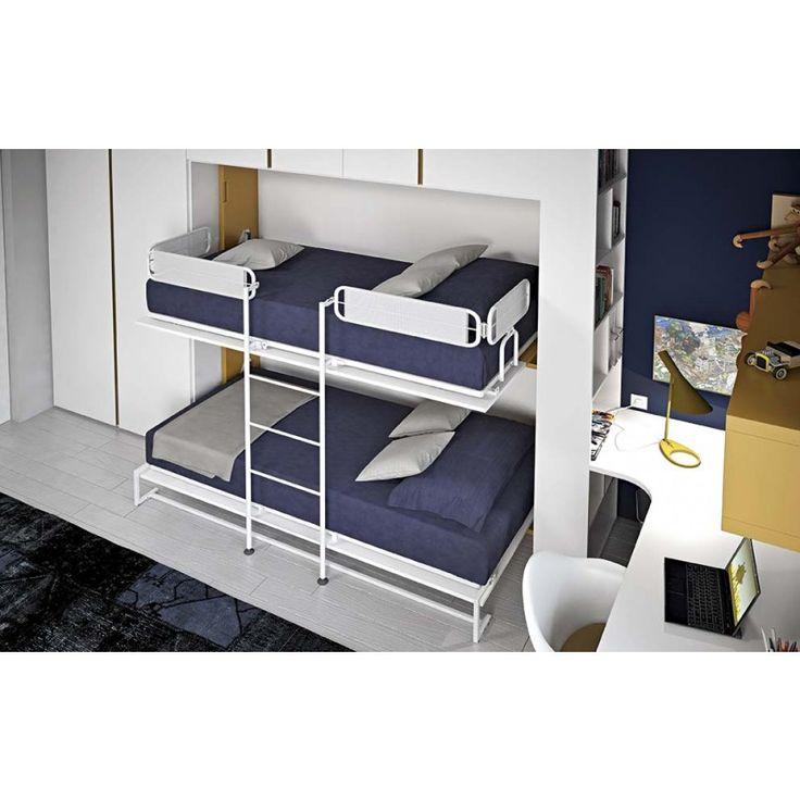 Oltre 20 migliori idee su scrivania per letto a castello - Letto castello 3 letti ...