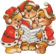 caroling christmas bears