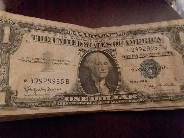 Antique Silver Certificate Star Note 1957