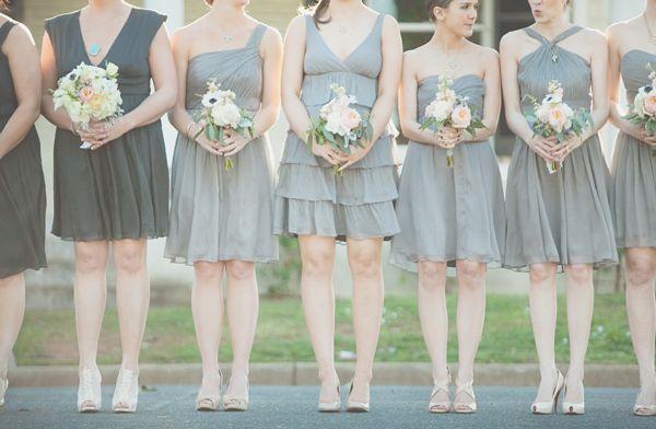North Carolina Wedding By The Schultzes | Grey Bridesmaid Dresses, Gray  Bridesmaids And Wedding