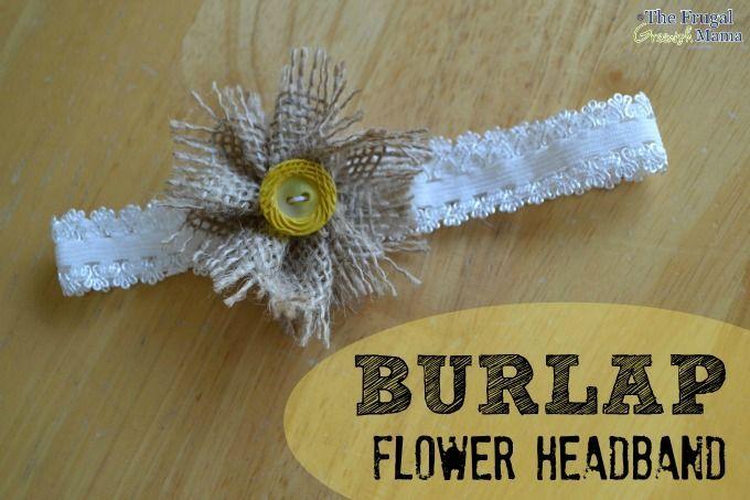 Burlap Flower Headband Tutorial #Headband #Tutorial #Burlap