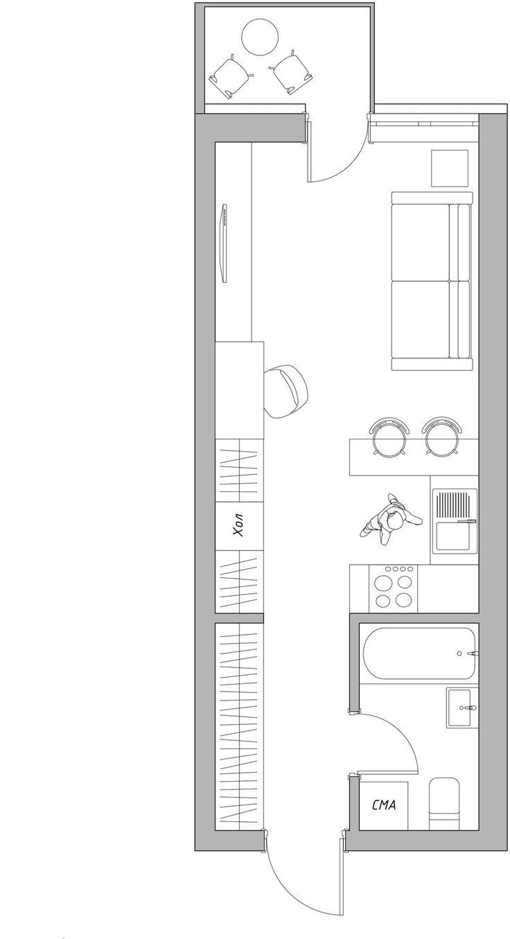 Фотография: Планировки в стиле , Квартира, Студия, Проект недели, Киев, до 40 метров, We Create Studio – фото на InMyRoom.ru