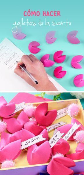 Estas sencillas galletas de la suerte hechas con foami son perfectas para darle el detalle final a tus regalos de San Valentín. Son muy fáciles de hacer y en ellas puedes poner mensajes en donde le demuestres a esa persona especial lo mucho que lo quieres.