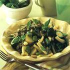 Foto recept: Pasta met aardappels, bonen en pesto