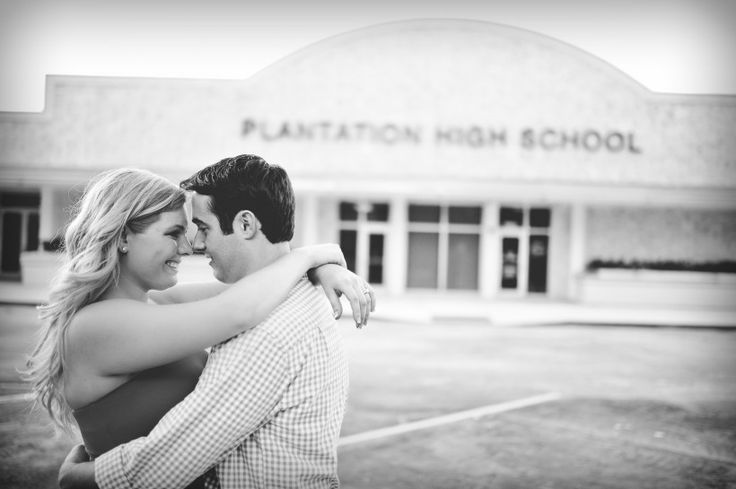 Love this high school sweethearts engagement shoot. :)