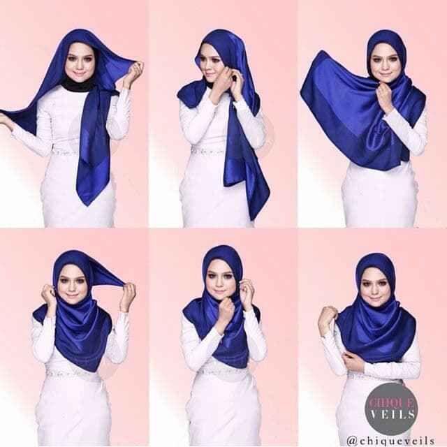 Tutorial Hijab Segi Empat Saudia Terbaru Hijab Tutorial Hijab Fashion Tutorial Hijab Modern