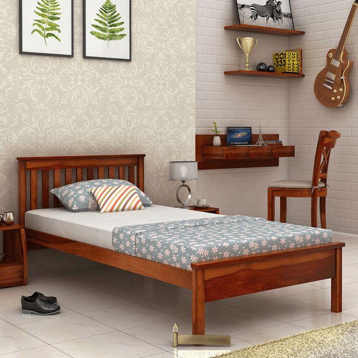 Buy #single #beds for bedroom with elegant designs online in India - zirbenholz schlafzimmer modern