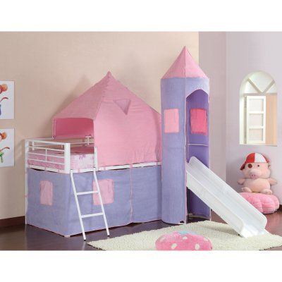Coaster Furniture Bunks Princess Castle Tent Left Bed - Purple & Pink - 460279