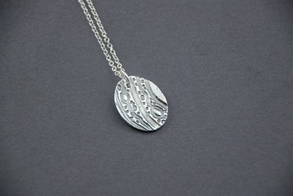 Layering jewelry silver lava pendant layering necklace unique jewelry Christmas gift