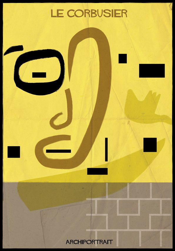 The Latest Illustration from Federico Babina: ARCHIPORTRAIT - Le Corbusier. Image Courtesy of Federico Babina