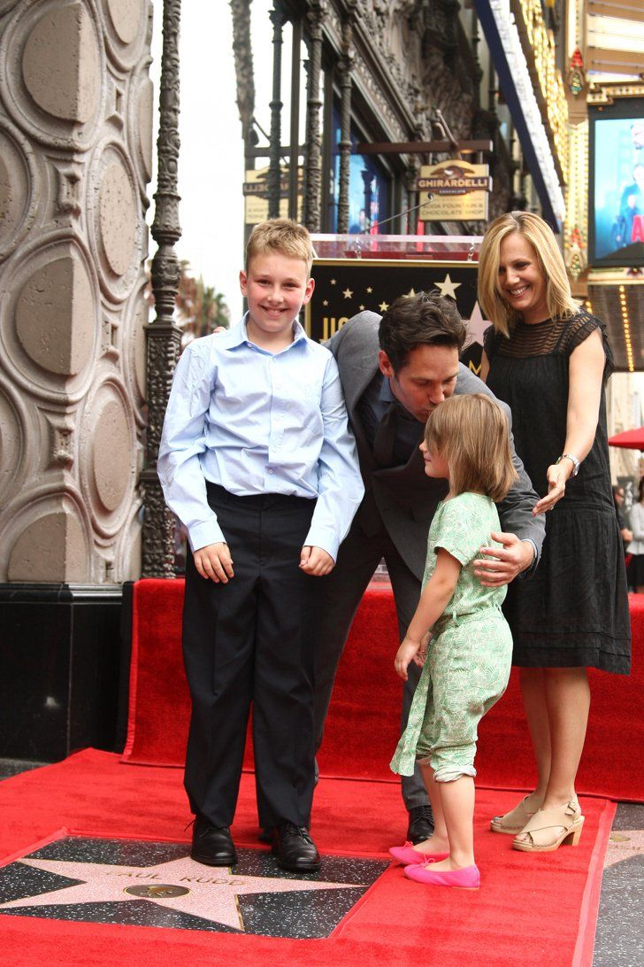 Pin for Later: Paul Rudd Receives a Special Honor With His Adorable Kids at His Side
