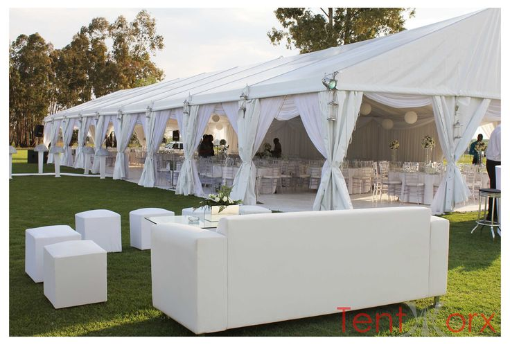 Tentworx can tranform your garden into a fairytale wedding! Call us on 087 754 5917.