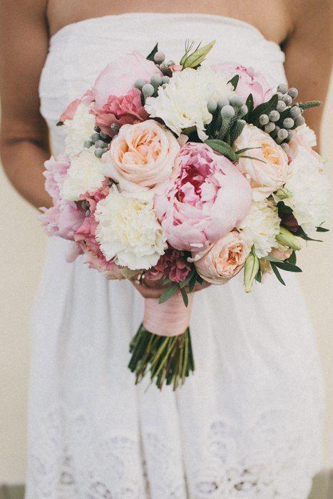 букет невесты, свадьба, пионы