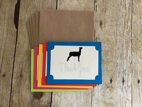 Show Lamb Show Sheep Lamb Thank You Card Show Lamb Card Lamb Buyer 4 H Buyer Ffa Buyer Livestock Thank You Ca Cute Thank You Cards Cards Thank You Cards