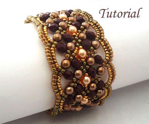 New beading tutorial Maroon Bracelet