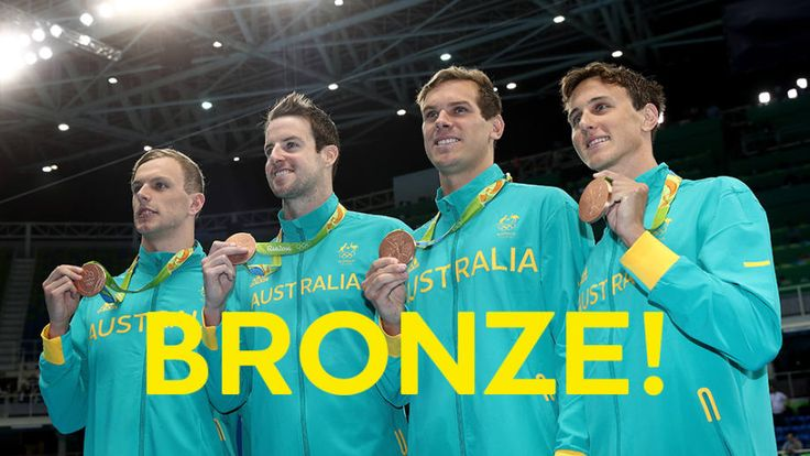BRONZE MEDAL: Men's 4x100m freestyle relay.